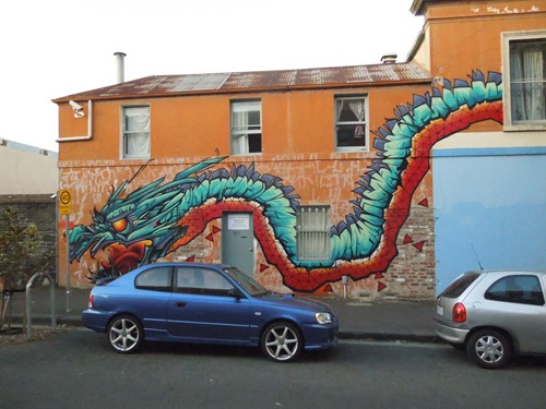 brunswickdragon11 thumb Interview Putos in street art genres melbourne illustration genres graffiti genres artist interviews