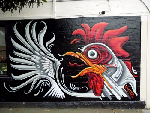 chicken treeofus cafe thumb Interview Putos in street art genres melbourne illustration genres graffiti genres artist interviews