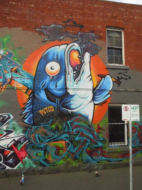 smoked salmon thumb Interview Putos in street art genres melbourne illustration genres graffiti genres artist interviews