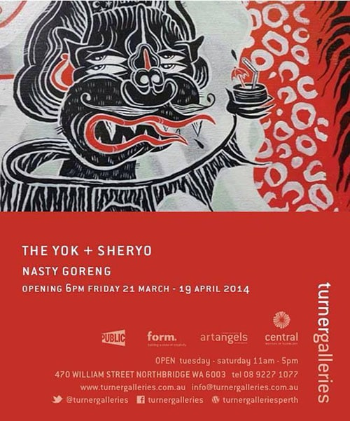 1779249 272576129568773 1481492719 n Exhibition The Yok & Sheryo Nasty Goreng Perth in street art genres perth painting genres mixed media genres illustration genres graffiti genres exhibitions