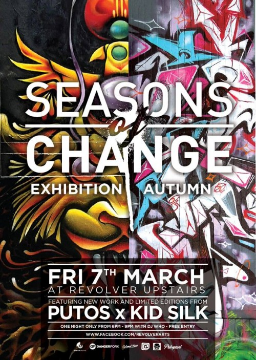 putos kidsilk 500x703 Exhibition Putos & Kid Silk Seasons Of Change Melbourne in street art genres prints genres melbourne illustration genres graphic design genres graffiti genres exhibitions