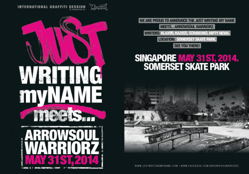 012 500x351 Event Just Writing My Name Somerset Skate Park Singapore in street art genres skateboards singapore se asia paintups urban art live art urban art festival urban art exhibitions