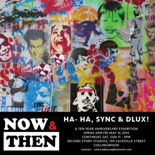 10313053 747898781908222 276739103339597402 n 500x500 Exhibition Sync, Dlux & HA HA Now & Then Melbourne in street art genres stickers genres stencil art genres prints genres melbourne exhibitions