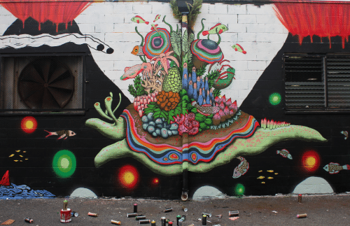 Aaron Glasson Pow Wow1 500x323 Interview Aaron Glasson in street art genres painting genres new zealand art in situ artist interviews advocacy urban art