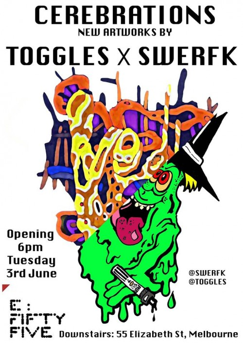 togs swerf 500x706 Exhibiton Toggles & Swerfk Cerebrations Melbourne in painting genres melbourne illustration genres exhibitions