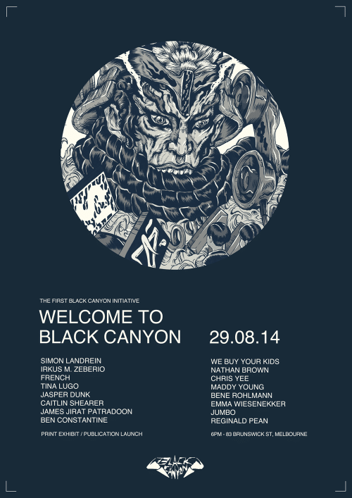 BLACK CANYON FLYER 1000 500x707 Exhibition Welcome to Black Canyon Melbourne in painting genres melbourne illustration genres exhibitions
