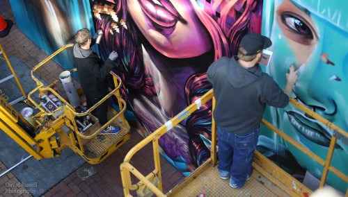 CK3A2903 500x284 Paint Up Sofles, Adnate And Smug At Northland in street art genres art event photos paintups urban art melbourne graffiti genres