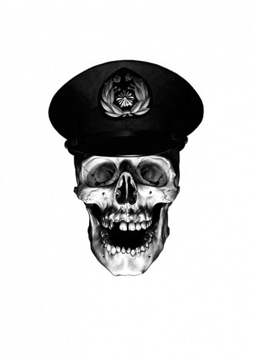 Policeman 642x907 500x706 Exhibition Flat Bend Shohei Otomo & Kosuke Kawamura Backwoods Gallery Collingwood in melbourne japan illustration genres galleries urban art exhibitions