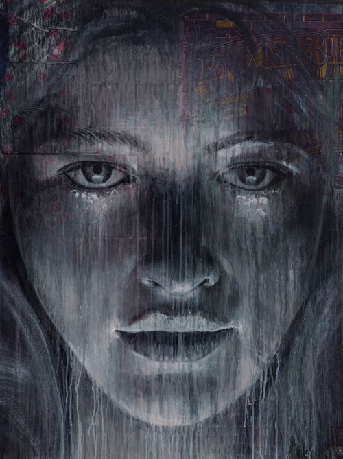 Rone 2014 It s Over Mixed Media on Canvas 910mm x 1200mm 500x669 Exhibition Rone Lumen Collins St Melbourne  in exhibitions