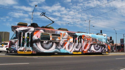 TRAM 500x280 Exhibition Rone Lumen Collins St Melbourne  in exhibitions
