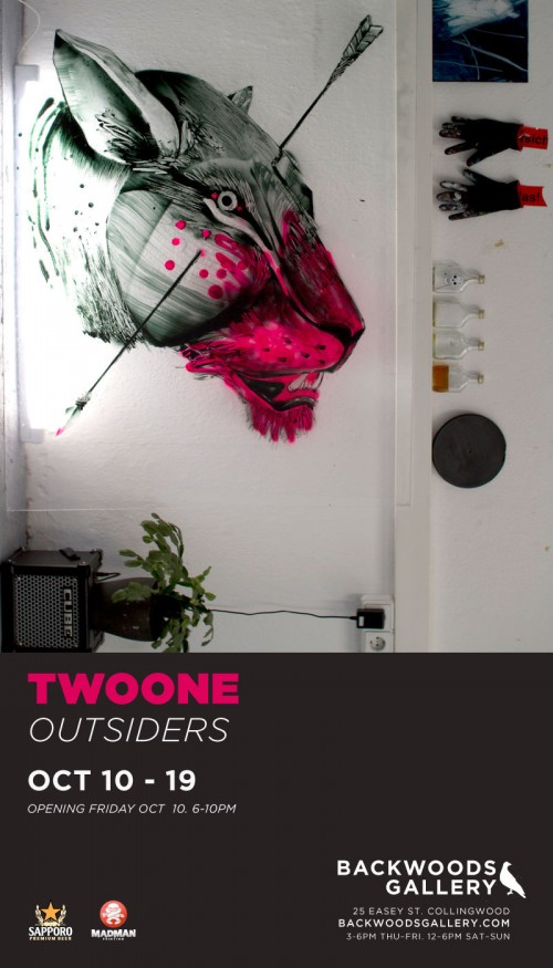 yusk promotions 500x875 Exhibition The Outsiders TwoOne Backwoods Gallery Collingwood  in exhibitions