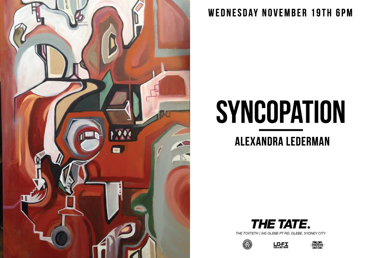 Exhibition – Syncopation – Alexandra Lederman – At The Tate – Sydney