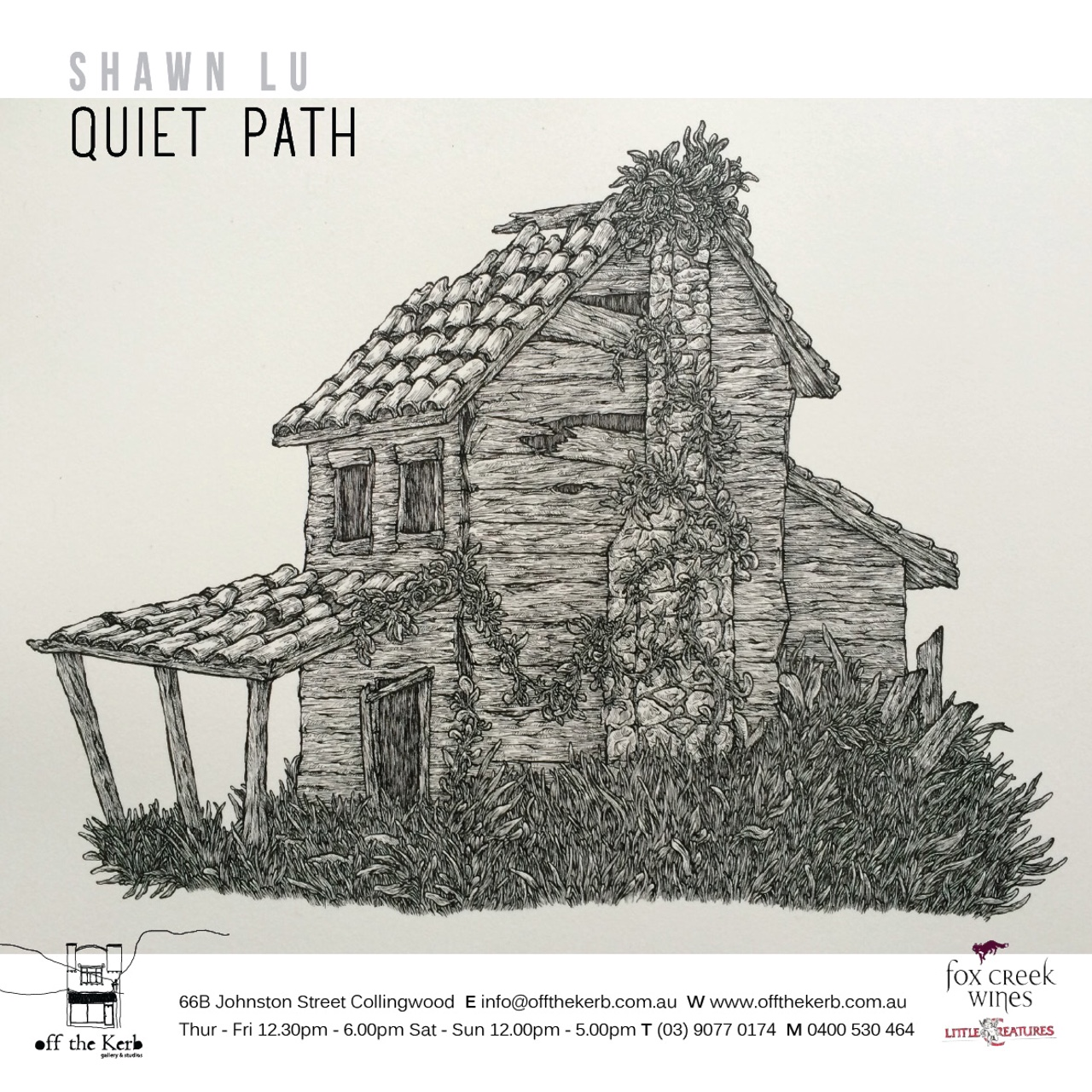 Exhibition – Quiet Path – Shawn Lu – At Off The Kerb
