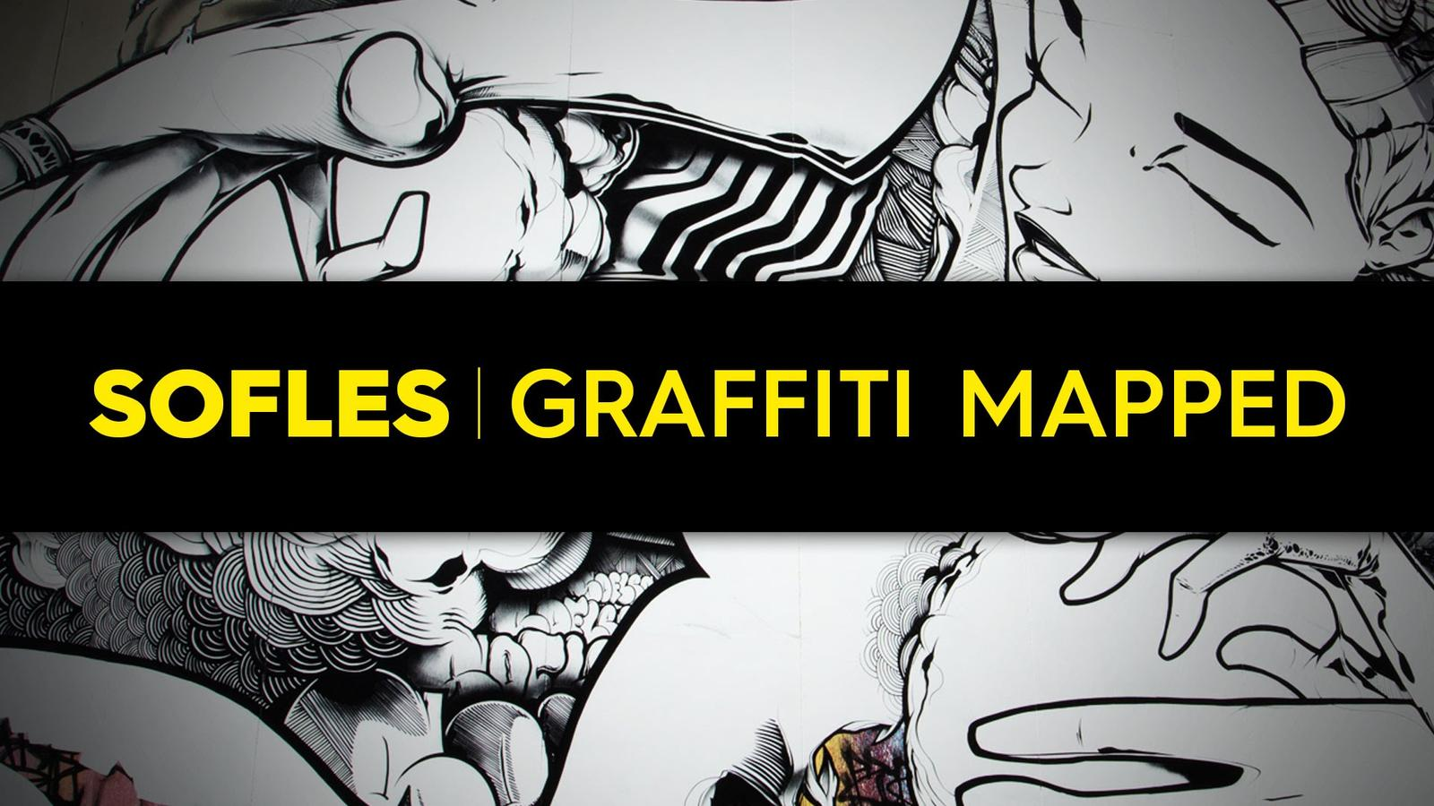 Video – Sofles – Graffiti Mapped @ White Night Melbourne 2015
